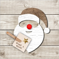 Lunch napkins Santa Red Nose