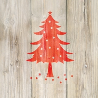 Lunch napkins Winter Tree red