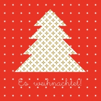 Lunch napkins Welcome Tree red