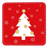 Lunch napkins Snow Tree red