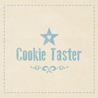 Lunch Servietten Cookie Taster beige