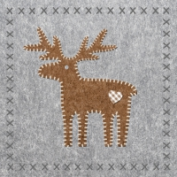 Serviettes lunch Felt Reindeer