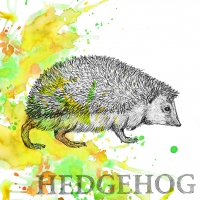 Serviettes lunch Autumn Hedgehog