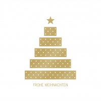 Napkins 33x33 cm - Tree & Presents gold