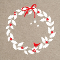 Napkins 33x33 cm - Xmas Wreath