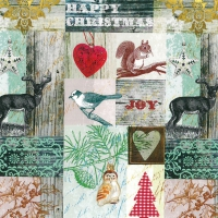 Lunch napkins Christmas Collage