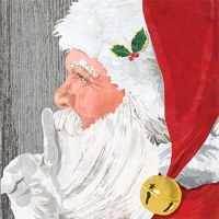 Lunch napkins Yuletide Santa wood