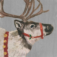 Lunch napkins Yuletide Reindeer Wood