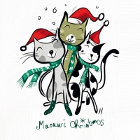 Lunch napkins Three Xmas Cats