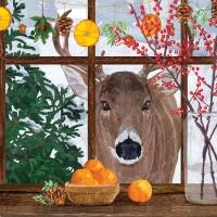 Napkins 33x33 cm - Hearth Time Deer