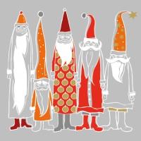 Serviettes de table 33x33 cm - Les pères Noël avec style
