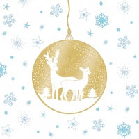 Lunch napkins Deers Ornaments