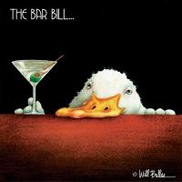 Cocktail Servietten Bar Bill
