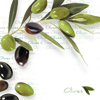 Lunch Tovaglioli Green Olives
