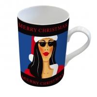 tasse de porcelaine Weibliche Weihnachten