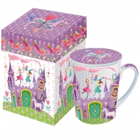 Cup with lid Princess Castle