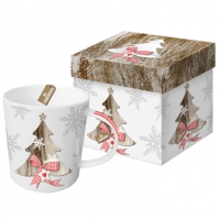 porcelain cup Country Xmas