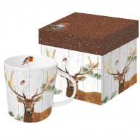 tazza di porcellana Robin & Deer