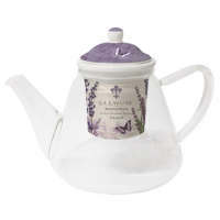 Glass Teapot La Lavande