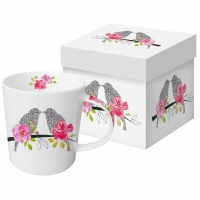 tasse de porcelaine Love Birds
