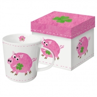 tasse de porcelaine Lucky Piggy