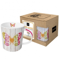 tasse de porcelaine Happiness Butterfly