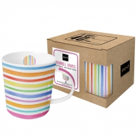 **)porcelain cup Aquarell Stripes