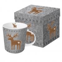 taza de la porcelana Felt Reindeer