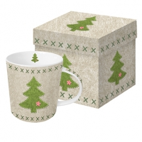 tazza di porcellana Felt Xmas Tree