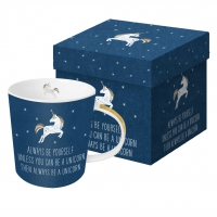 **)porcelain cup Always Unicorn