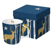 **)tazza di porcellana Mystic Deer blue