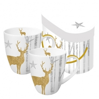 **)tazza di porcellana Mystic Deer Gold