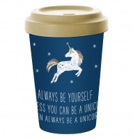 *)Becher fatto di bambù Always Unicorn