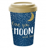 *)Becher fatto di bambù Moon Love