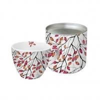 porcelain cup Aquarell Rosehip