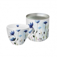 porcelain cup Aquarell Cornflower