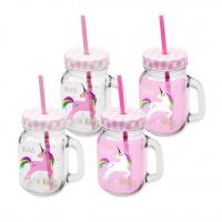 Trinkgläser Pink Unicorn
