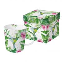tasse de porcelaine Tropical Hummingbird