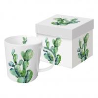 Porzellan-Henkelbecher Cactus