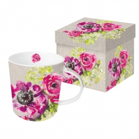Porzellan-Henkelbecher Pink Blossoms