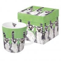 Porzellan-Henkelbecher Lemur Amigos