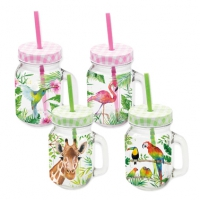 Drinking glasses Tropical