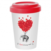 *)Becher fatto di bambù Love carries all