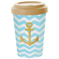 *)Mug Bamboo Welcome Anchor