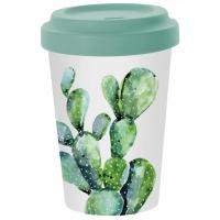 *)Bécher en bambou Cactus