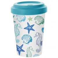 *)Mug Bamboo Aquarell Seaside