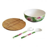 Bamboo Salad Bowl Tropical