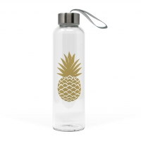 +*)Glasflasche Pineapple