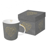 **)tazza di porcellana Geometric Heart