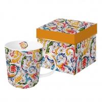Taza de porcelana con mango - Fiorentina oro real